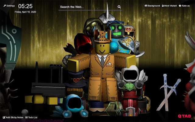 Roblox New Tab Hd Background Theme