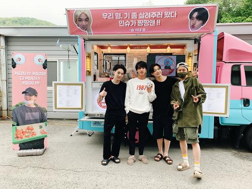 Jhope sent Coffee Truck to Suga on Daechwita Mv Shooting Set