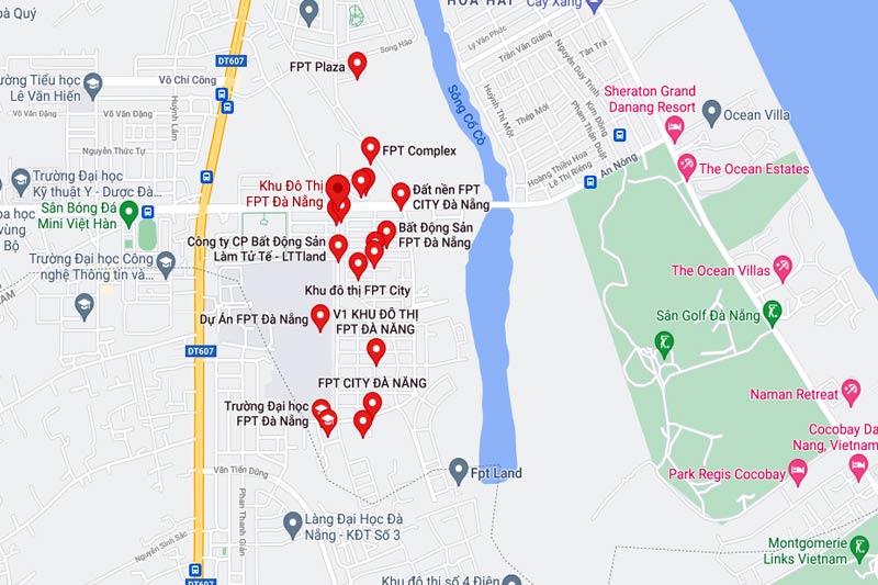 Vị trí khu đô thị FPT Đà Nẵng