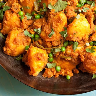 Potato And Pea Curry With Tomato And Coriander (aloo Dum).