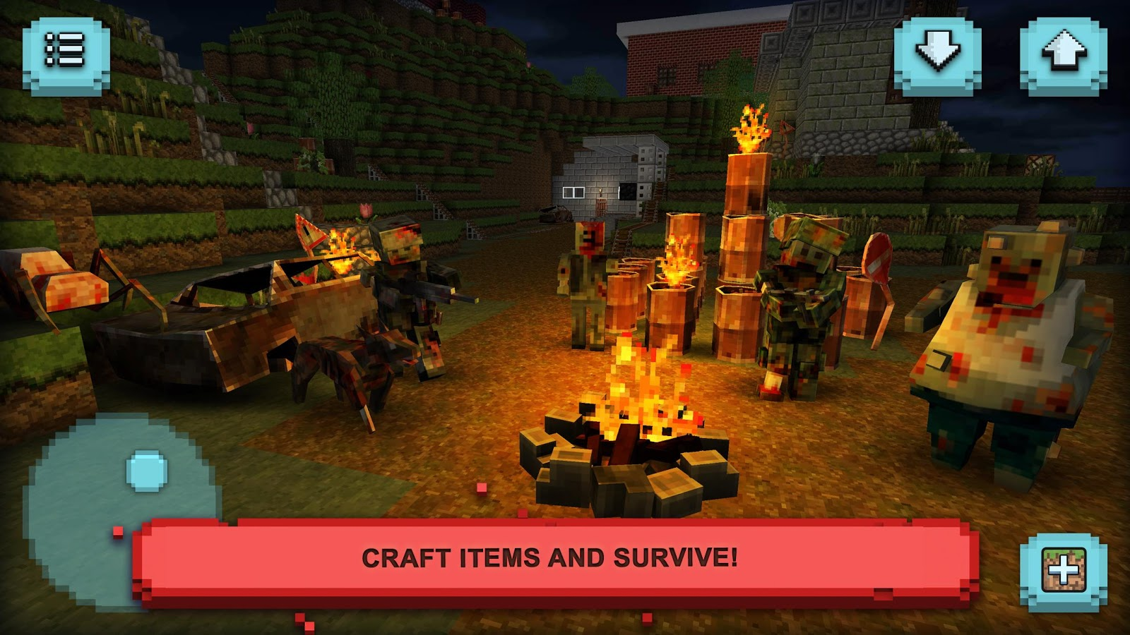 Zombie Survival Craft: Defense- screenshot