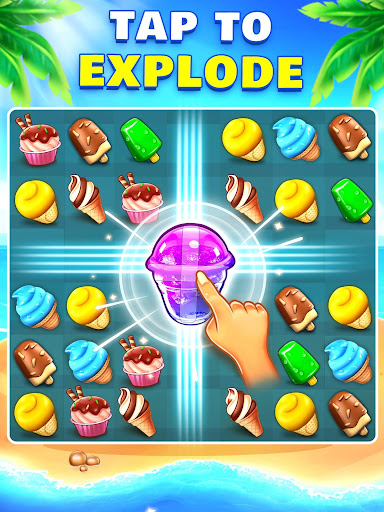 Ice Cream Paradise - Match 3 Puzzle Adventure apktram screenshots 18