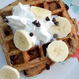 Chocolate Banana Waffles