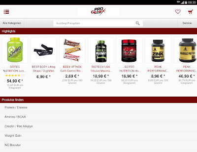 Progenix Sportnahrung- screenshot thumbnail