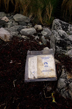 Photo: Lifeboat emergency water, from Russia. Found along the shore.