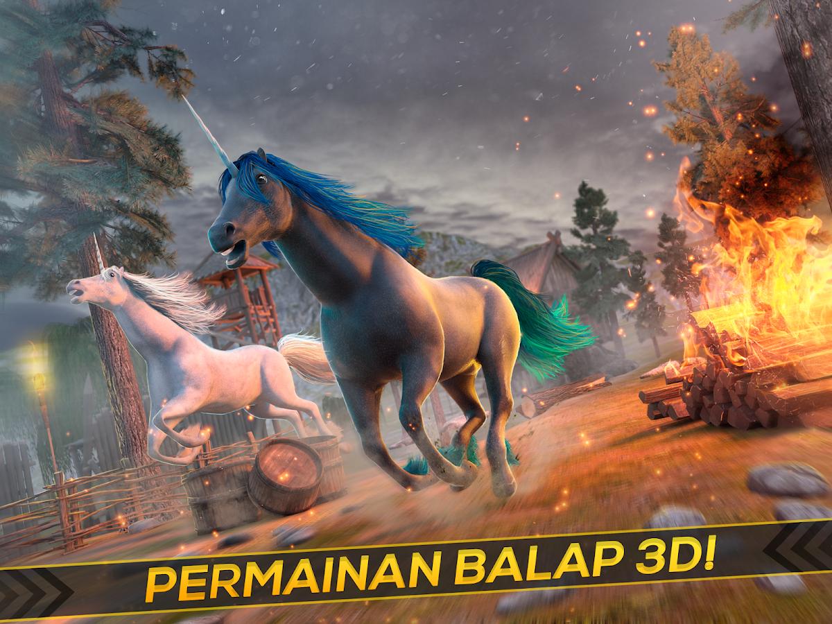 Kuda Bertanduk 3D Hewan Lucu Apl Android Di Google Play