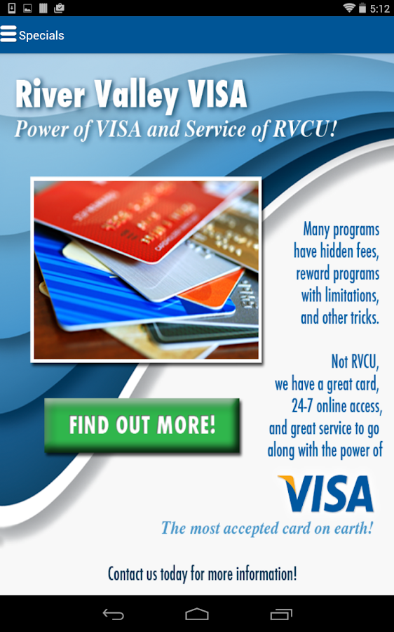 River Valley Credit Union- screenshot