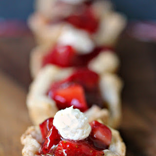 Strawberry Filled Mini Puff Pastries Recipe