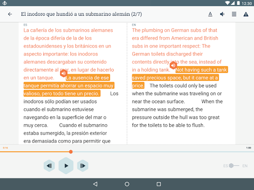 Beelinguapp: Learn Languages Music & Audiobooks screenshots 9