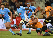Thembelani Bholi of the Blue Bulls during the Currie Cup match between Toyota Free State Cheetahs XV and Vodacom Blue Bulls at Toyota Stadium on August 17, 2018 in Bloemfontein, South Africa.