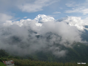 Photo: After arriving in Ghandruk- Annapurna South and Himchuli