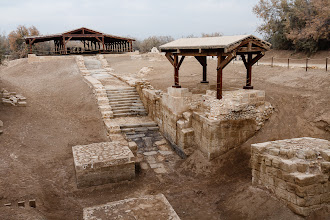 Photo: The river Jordan used to flow at the baptism site