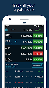 Real time cryptocurrency values