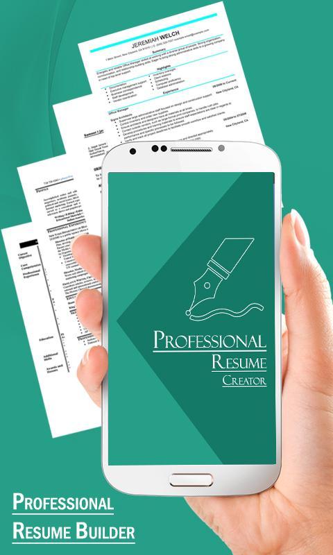 professional resume builder screenshot