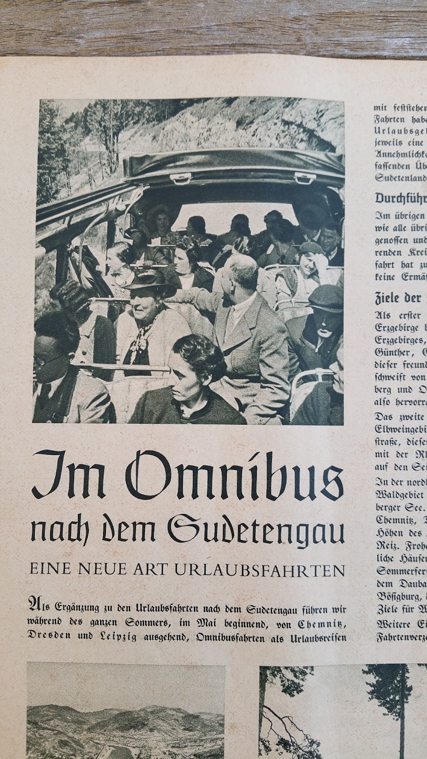 """Die Deutsche Arbeitsfront - Urlaubsfahrten 1939 - NS-Gemeinschaft """"Kraft durch Freude"""" Gau Sachsen - Katalog - Sudetengau"""