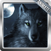 Black Wolf Animated Wallpaper