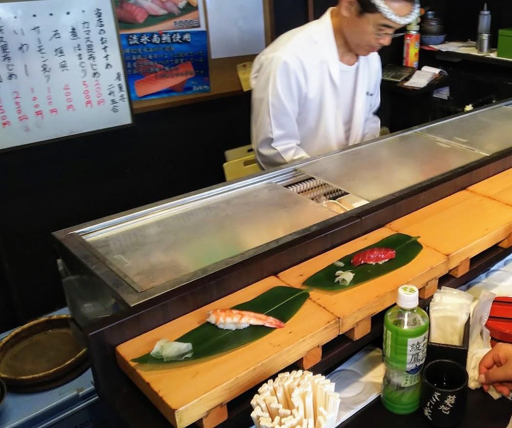 築地・立ち食い寿司