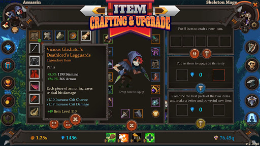 clicker warriors - idle rpg screenshot 2