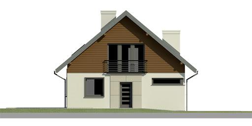 Dom przy Cyprysowej 2 - Elewacja przednia