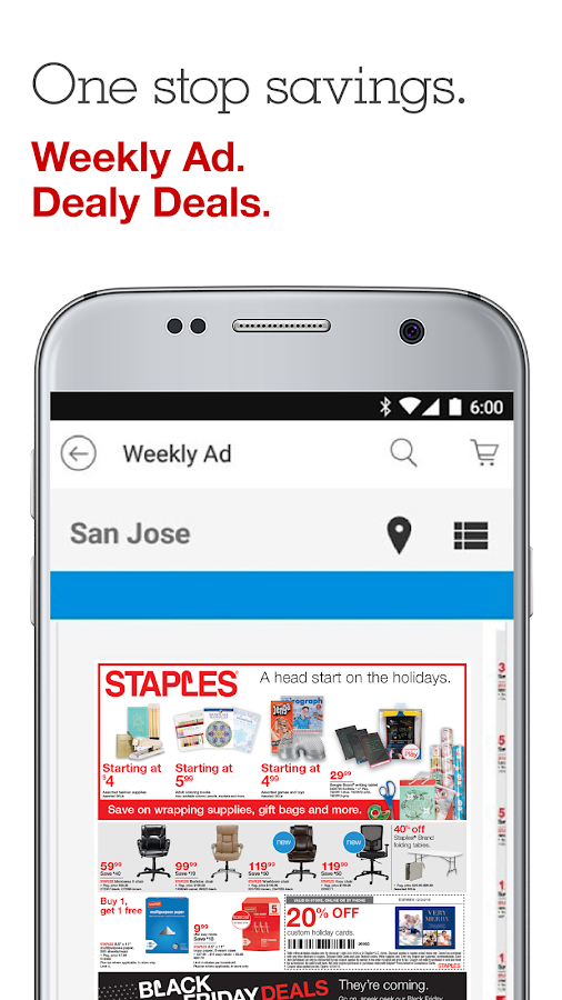 staples shopping app android apps on google play. Black Bedroom Furniture Sets. Home Design Ideas