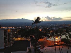 Photo: The sun rising over Hualalai Volcano (8271ft).