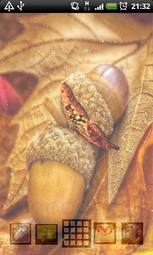 Acorn Butterfly Live Wallpaper