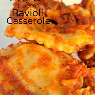 Crock Pot Cheesy Ravioli Casserole.