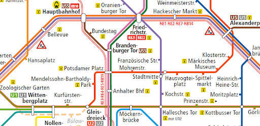 Karta Berlin Bvg.Berlin Subway Map U Bahn Etc Apps On Google Play