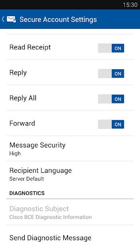 Business Class Email (BCE) screenshot 5