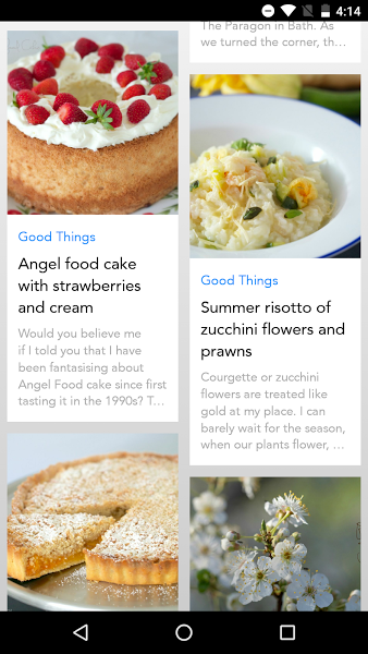 Good Things App- screenshot