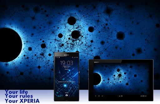 Тема eXPERIAmz - Nova blue
