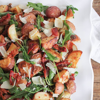 Roasted Potato Salad with Pancetta, Sun-Dried Tomatoes and Arugula