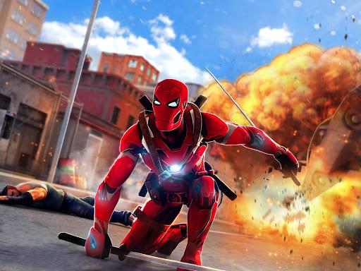 Superhero Ninja Battle: Streets Fighting Robot Socem 25 Screenshots 4