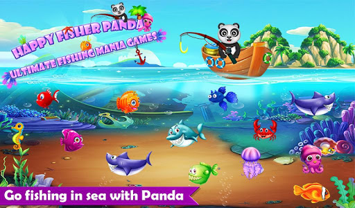 Happy Fisher Panda: Ultimate Fishing Mania Games  screenshots 1
