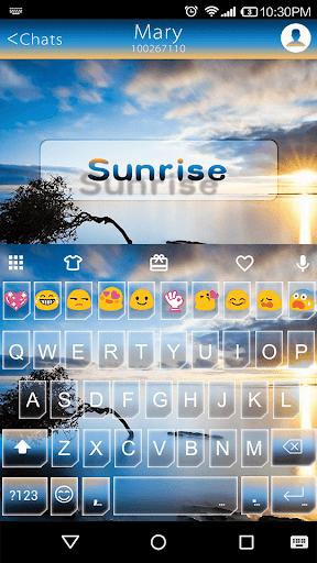 Sunrise Emoji Keyboard Theme