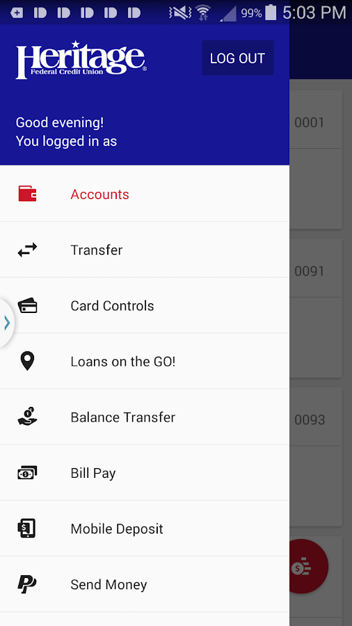 HFCU Mobile Banking- screenshot