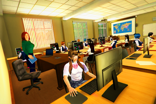 Virtual High School Girl Simulator Real Family apktram screenshots 7