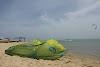 Sri. Lanka Kalpitiya Kiteboarding. Loving our F-One Bandit Kites & Best Board