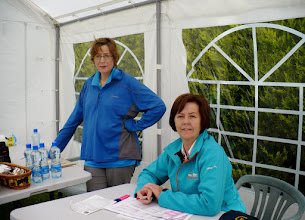 Photo: Organizers Catherine and Anne at base camp in Anglesborough, Galtee Challenge/Crossing, June 30, 2013.