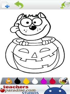 Happy Halloween Coloring Book Game Screenshot Thumbnail