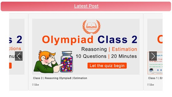 Olympiad App for Classes 1,2,3,4,5,6,7,8 - náhled