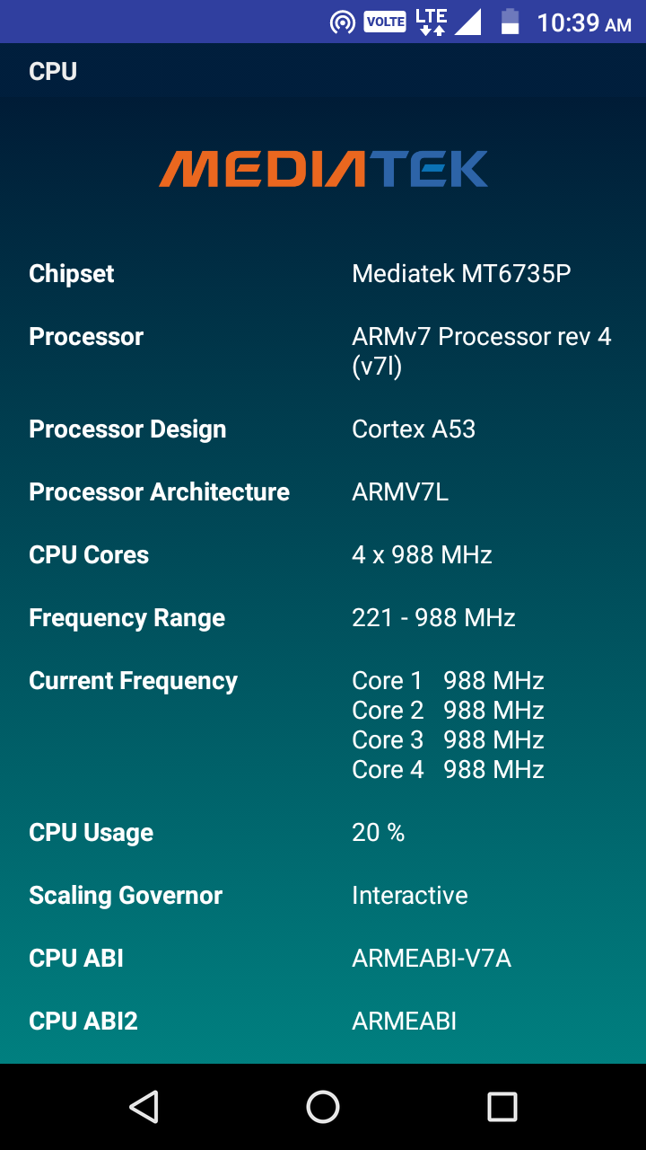 CPU Identifier Screenshot