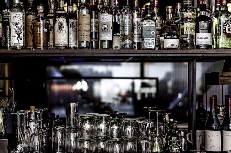 The back wall behind the bar at Benjamin Cooper. Photo: Benjamin Cooper.