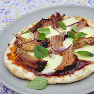Grilled Pulled Pork Pizza.