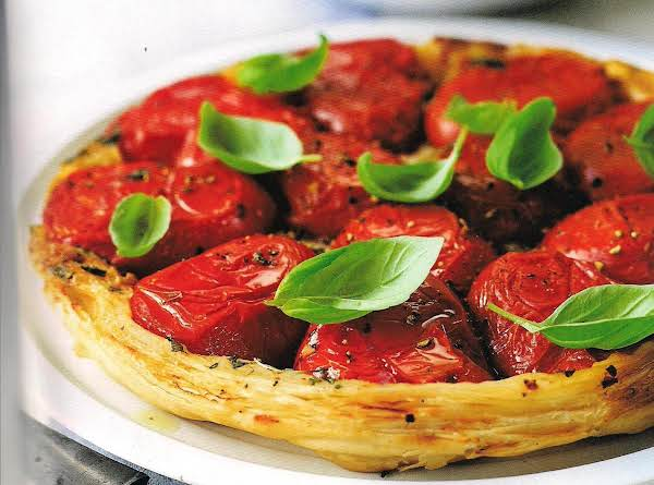 Tomato Upside Down Tart With Basil