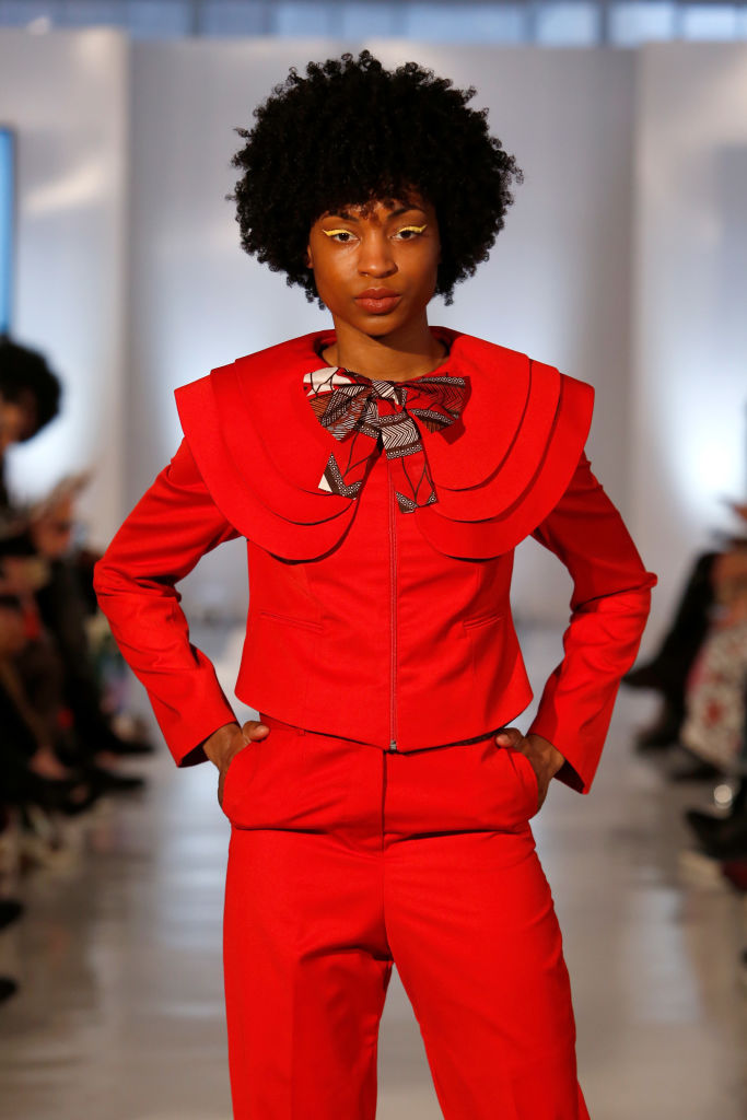 Red featured predominantly in Madida's Colour by Nandi Madida collection.