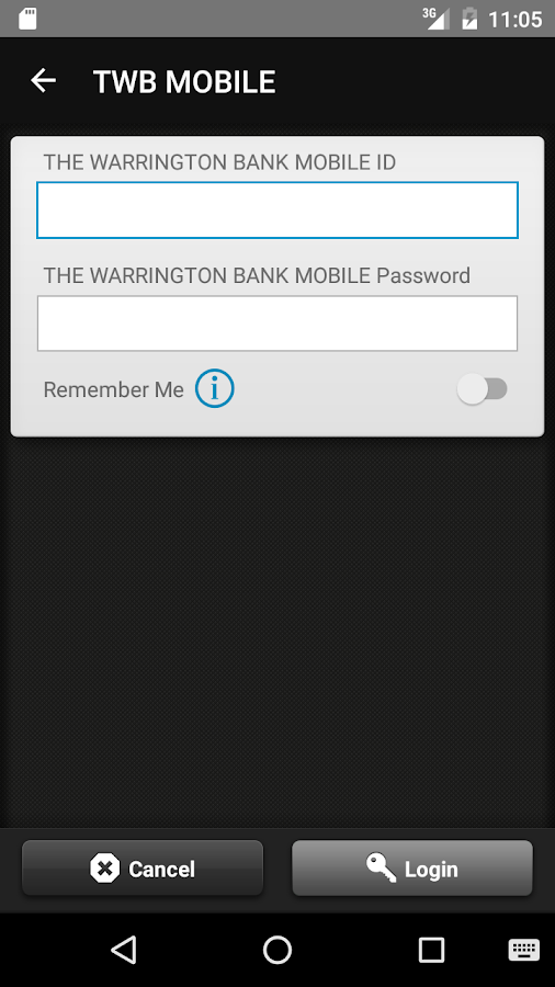 THE WARRINGTON BANK MOBILE- screenshot