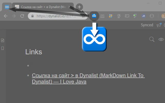 MarkDown Link To Dynalist