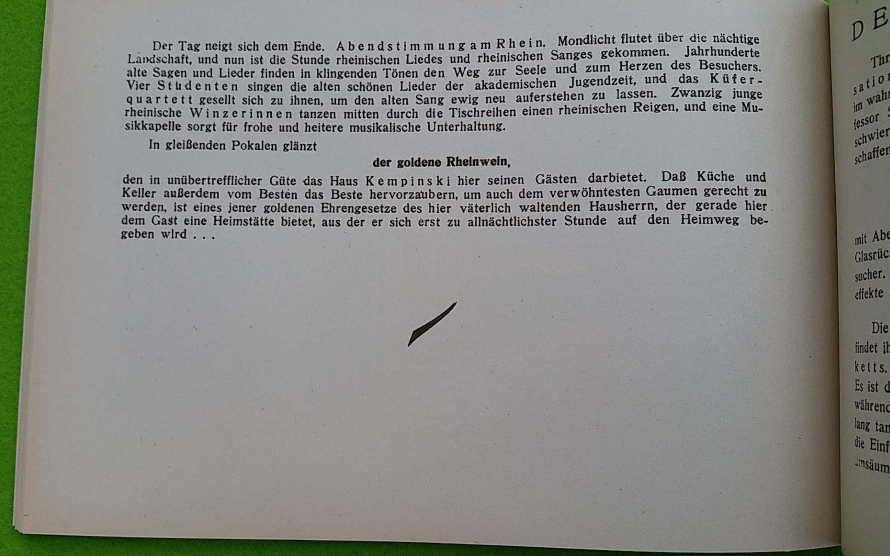 Begleitheft zur Eröffnung von Haus Vaterland am Potsdamer Platz, Berlin, 31. August 1928 - Kempinski-Rheinterrasse