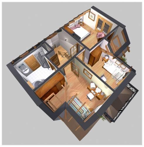 APS 139 - Rzut piętra 3D
